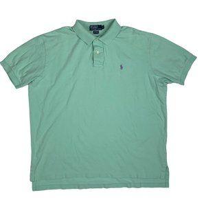 Polo Ralph Lauren Golf Shirt Turquoise S/S Cotton